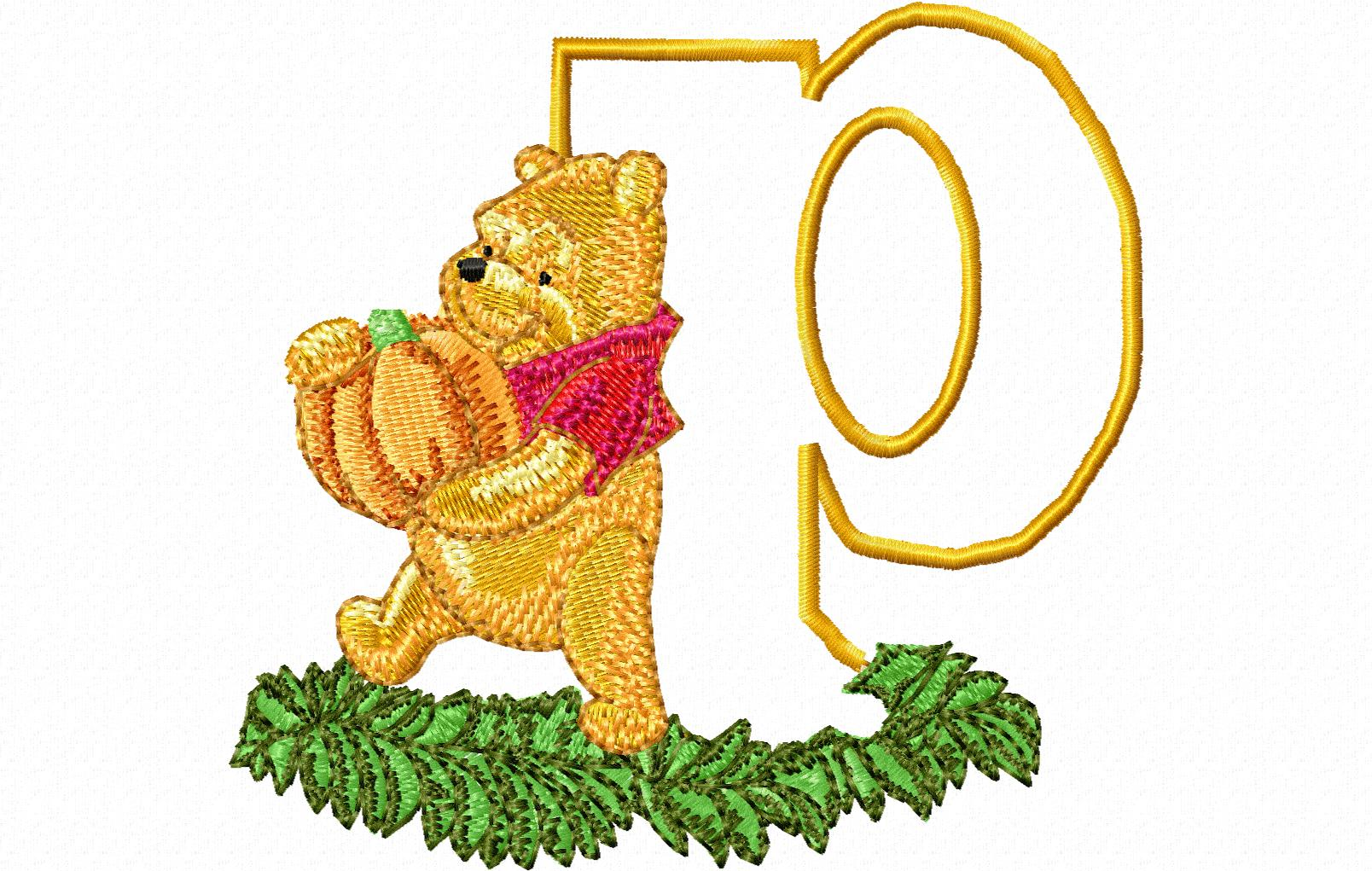 Pooh Letter P 10 X